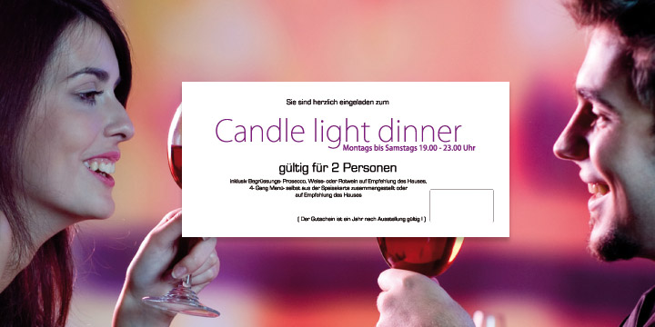 Gutschein Candle Light Dinner